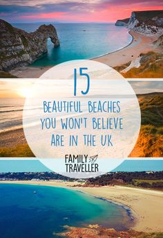 15 beautiful beaches you won't believe are in the UK – Leslie Johnson 15 beautiful beaches you won't believe are in the UK UK has some of the most beautiful beaches in the world. If you don't believe me see for yourself… Places To Visit Uk, Places To Travel, Travel Destinations, Uk Holidays, Beaches In The World, Beaches In Uk, Voyage Europe, Most Beautiful Beaches, Family Travel