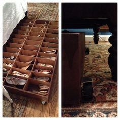 Love the idea for an under the bed shoe storage unit @istandarddesign