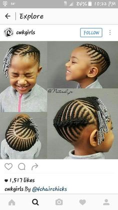 Goddess Leach Hair Styles Cornrow styles for girls, Kids little girl natural hair braid styles - Hair Style Girl Cornrow Styles For Girls, Little Girl Braid Styles, Kid Braid Styles, Little Girl Braids, Black Girl Braids, Lil Girl Hairstyles, Black Kids Hairstyles, Natural Hairstyles For Kids, Kids Braided Hairstyles