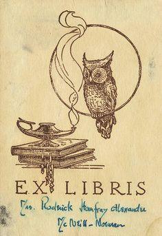 - Owl Bookplate