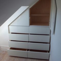 Storage and Closets Design Ideas, Remodels and Pictures great built in for attics