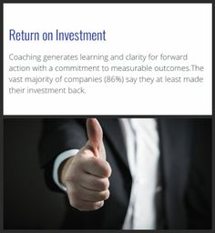 Unsure about getting a work coach? According to the International Coaching Federation, of companies said that they saw a return on their coaching investment. Life Coaching, Investing, Sayings, Learning, Lyrics, Studying, Teaching, Coaching, Personal Development