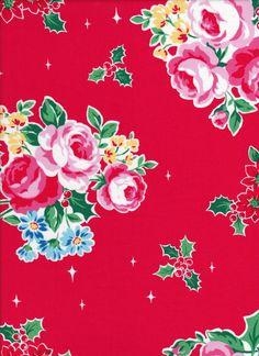 Lecien Flower Sugar Holiday 31327 20 - Fat Quarter - Rose Cluster - Christmas…