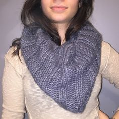 Grey knit shimmer Infiniti scarf Like new! This listing is for the scarf but the shirt is also for sale. Offers welcome! Bundle with my BRAND NEW RETAIL inventory so you don't have to pay shipping twice :) UO for visibility. Urban Outfitters Accessories Scarves & Wraps