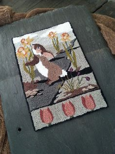 BRIAR COTTAGE STUDIO: Bunny Trail Punch Needle Pattern by Kate Gillery©2017