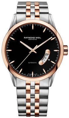I love this, especially the calendar. So simple and elegant   Raymond Weil Watch Freelancer