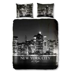 ML Flanellen Dekbedovertrek New York By Night