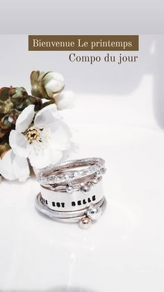 Superposer ses bagues Stacking Rings, Place Cards, Creations, Place Card Holders, Ring, Necklaces, Jewerly, Stackable Rings