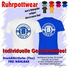 T-Shirt  Bochum Glück auf  individuell gestaltbar mit Flexdruck Ruhrpott Shirt