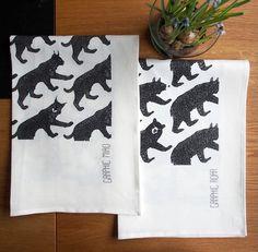 LISALISA.SE Graphic Wild - Kitchen towel - Linen - Lisa Göthberg
