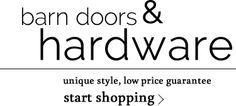 At first glance, at least on the hardware section, there are budget friendly options.... I have not looked thoroughly --- Barn Door Hardware | As Seen On TV | Rustica Hardware