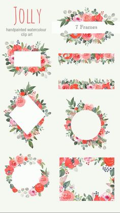 frames and borders Watercolor Christmas floral Clipart - green and red graphics, christmas roses frames and borders with amaryllis flowers These festive frames have been made up from Christmas Rose, Christmas Frames, Christmas Cards, Wreath Watercolor, Watercolor Flowers, Watercolor Paintings, Christmas Drawing, Watercolor Christmas, Cadre Design