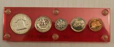 Original US Mint 1960 Proof Set VINTAGE CAPITOL HOLDER  (LIGHT TONING EDGES) $24.99 + $4.99 Shipping