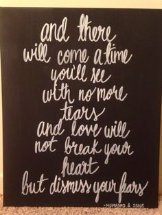 a9bd39021bfed2 Items similar to Mumford and sons hand painted canvas quote on Etsy