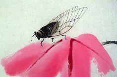 Qi Baishi - cikada on flower