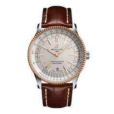 Worldwide Watches Magazine Breitling Navitimer, Breitling Chronograph, Breitling Colt, Breitling Watches, Date Heure, Or Rouge, Bracelet Cuir, Ring Size Guide, Red Gold