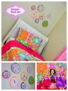 Handkerchief Wall Art DIY Tutorial