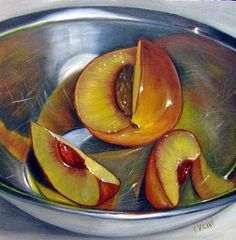 Vic Vicini is a Michigan painter who considers himself a painter of contemporary still-life. He graduated from Wayne State Univ. Painting Inspiration, Art Inspo, Ap Drawing, Growth And Decay, Still Life Artists, Still Life Fruit, Ap Studio Art, Food Painting, Ap Art