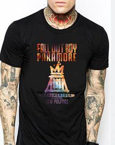 Fall Out Boy Paramore FOB new Politics  black Men T-Shirt