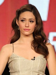Pinned back on one side - Emmy Rossum