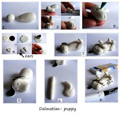 Dalmatians- puppy - Step by step tutorial how to make puppy
