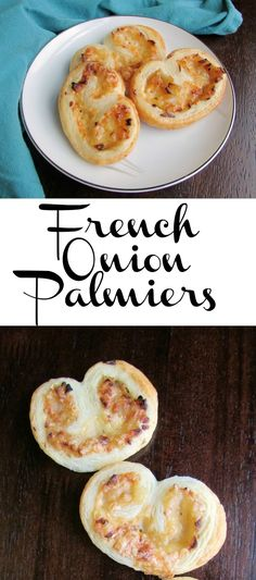 Caramelized onions, melty Gruyere and the buttery crunch of puff pastry come together to make these tasty French Onion Palmiers. A great appetizer for so many occasions! #SundaySupper