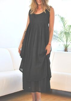 Festive elegant summer dress with a double skirt to by YOUSAKO, kr1400.00