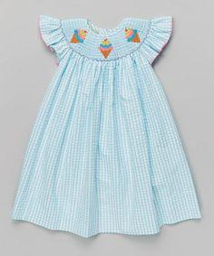 Loving this Turquoise Ice Cream Bishop Dress - Infant, Toddler & Girls on #zulily! #zulilyfinds