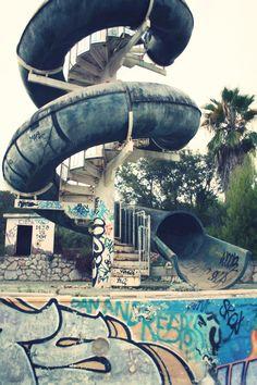 Parque de agua abandonado  #parquedeaguaabandonado