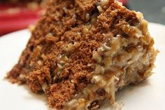 In honor of my Dad's birthday - the best coconut pecan frosting for his favorite German Chocolate Cake