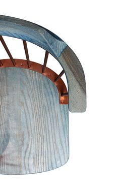The Special Edition Indigo Exchange includes three chairs dyed in different shades of blue. The chairs feature copper supports that are intended to offset the blue-hued wood. To create the blue colouring, the designers worked with producers of natural indigo dye in the Guizhou village in southern China. The dye was organically grown and harvested by local villagers before being applied with traditional hand-dyeing techniques.