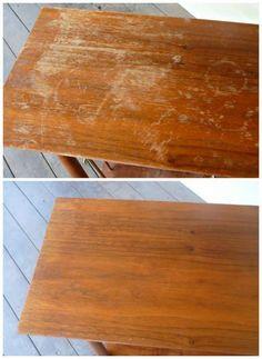 Enlever les égratignures d'un meuble en bois