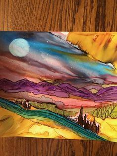 By LeslieFrederick alcohol ink on Yupo paper
