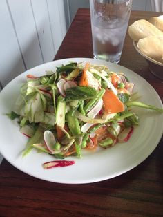 Raw veggie salad to make up for weekend sins :)