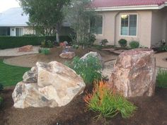 133 Best Landscaping With Boulders Images Sloped