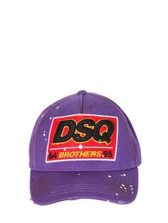 dd45dedb7871c Dsq patch cotton canvas baseball hat, Purple, Luisaviaroma - Adjustable  strap at back . Patch with embroidered details .