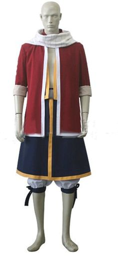 Camplayco Fairy Tail Natsu Dragneel Costume Cosplay Costume-made *** Click image to review more details.