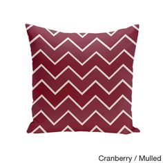 Square 18-inch Holiday Brights Collection Multi Zig-zag Geometric Pillow