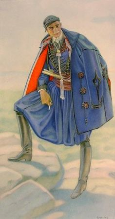 Greek Mans Town Costume (Crete) - Greek Costume Collection by NICOLAS SPERLING (Russia 1881-1940 / act: Athens).