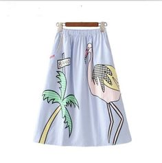 Mid-calf Women tree striped skirts  FREE SHIPPING !!!