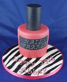Nail polish cake Nail Polish Cake, Handmade Chocolates, Novelty Cakes, Wedding Cakes, Birthdays, Nails, Wedding Gown Cakes, Anniversaries, Finger Nails