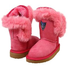 Cuce Dallas Mavericks Toddler Girls Mini-Me Fanatic Boots - Pink