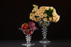 Gabriela Seres- Classic-modern home decor and event handmade glassware Wedding Vases, Wedding Decorations, Fruit Stands, Hurricane Glass, Candle Holders, Tableware, Shop, Handmade, Dinnerware