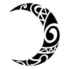 Tribal moon Tattoo Maori