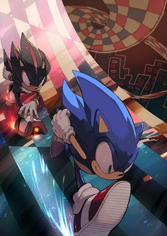 WOW sonic shadow race again xD... Can't lead to good things :3
