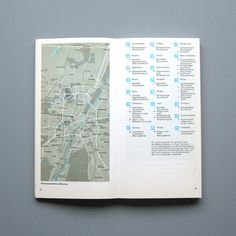 1972 Munich Olympics Brochures designed by Otl Aicher and his team. Design classics and collectable items. Creative Brochure, Brochure Design, Map Design, Book Design, Design Ideas, Otl Aicher, Map Maker, Event Branding, Layout