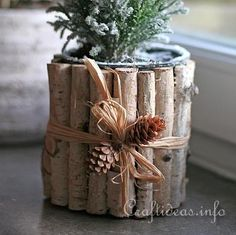 Recycling Craft for Christmas - Can Flower Pot 2