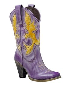 Take a look at this Purple Rio Grande Cowboy Boot by Very Volatile on #zulily today! For all you urban cowgirls out there. Yee Haw!!