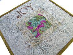 Art Wall Hanging Quilt, Word Quilt, Joy. $45.00, via Etsy.