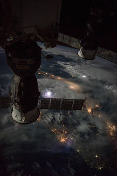 just–space: Thunderstorms as seen from the ISS js